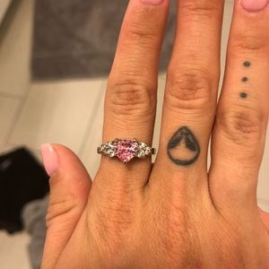 Pink Heart Ring - Size 6/7